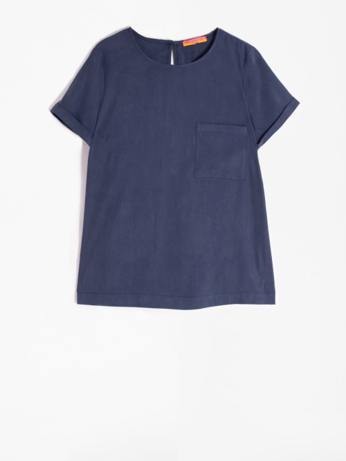 CANDY SHIRT NAVY LYOCELL