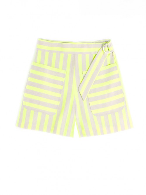 PANTALÓN AVALON LIME FLUOR STRIPES