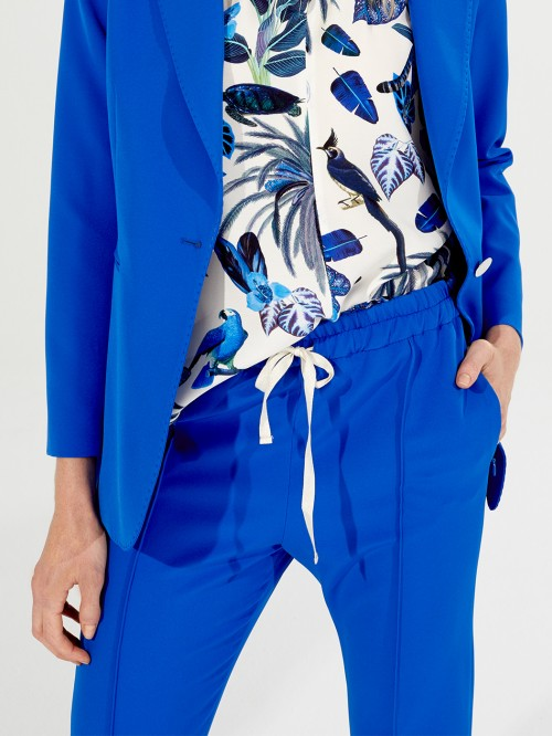 CLARISE TROUSERS BLUE CREP CREP