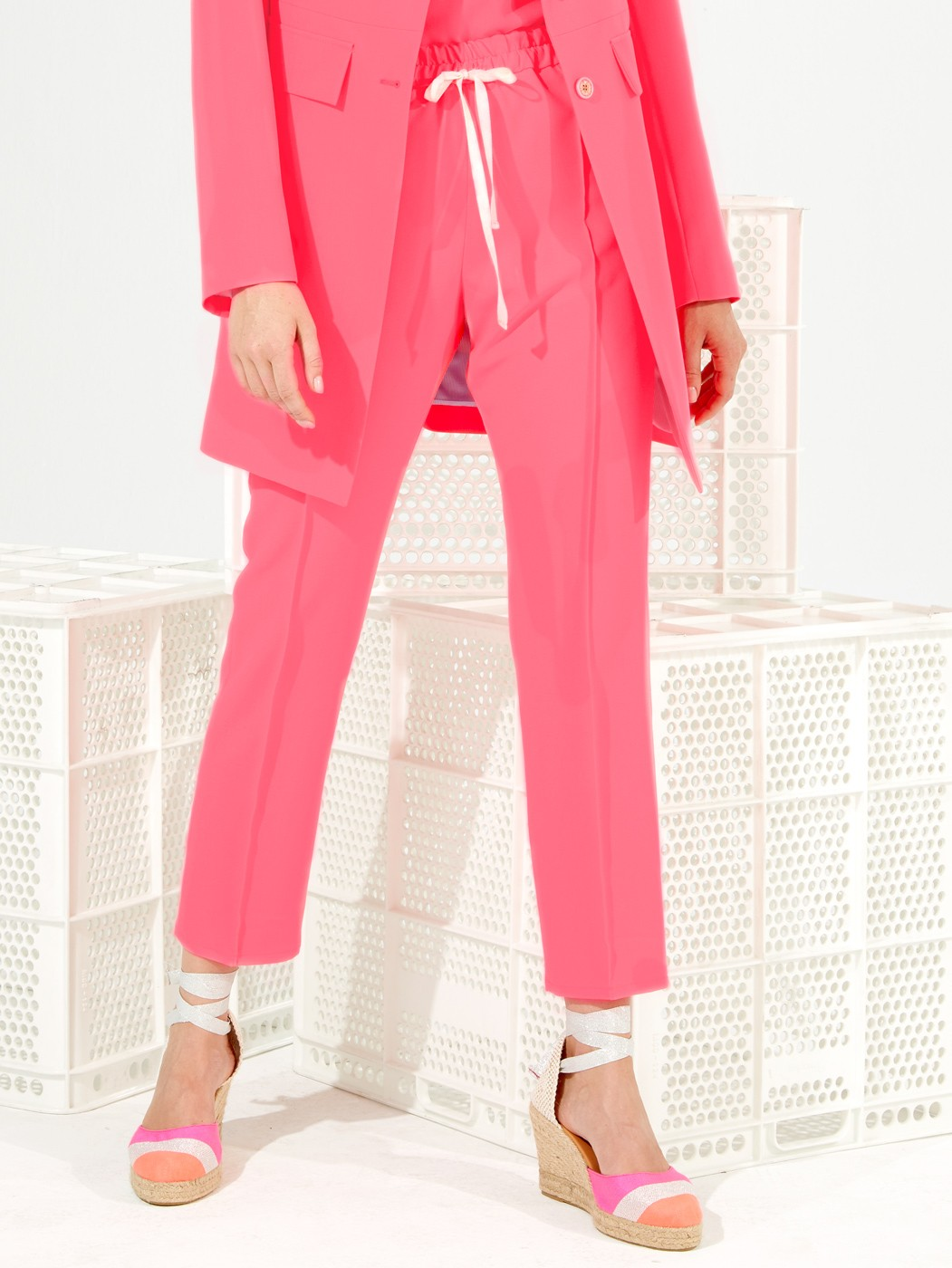 CLARISE TROUSERS PINK FLUOR CREP