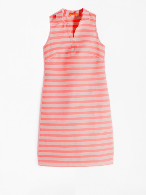 CASSIE DRESS LIVORNO ORANGE STRIPE