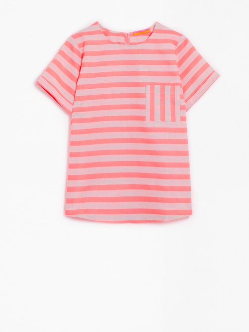 CANDY SHIRT LIVORNO ORANGE STRIPE