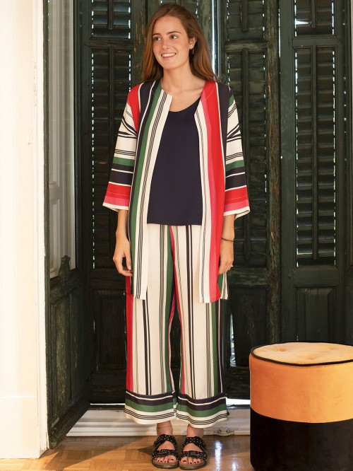 IRENE COAT BERCELLI STRIPE PRIN