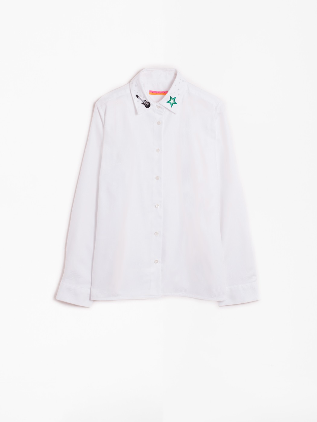 ISABELLA EMBROIDERY SHIRT PANAMA WHITE