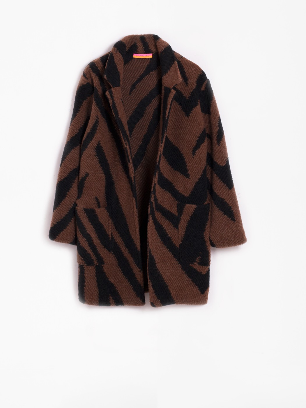 DORA JACKET KN ZEBRA BROWN BLACK