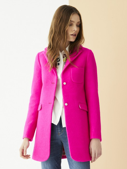 OXFORD COAT PINK FLUOR