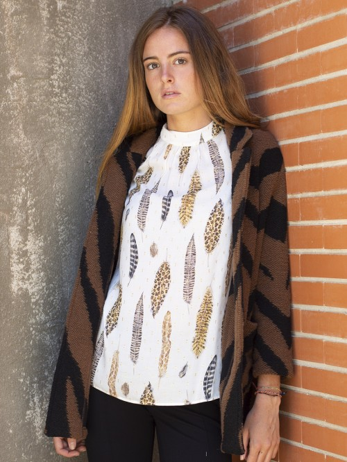 CAMISA VICTORIA WHITE FEATHERS