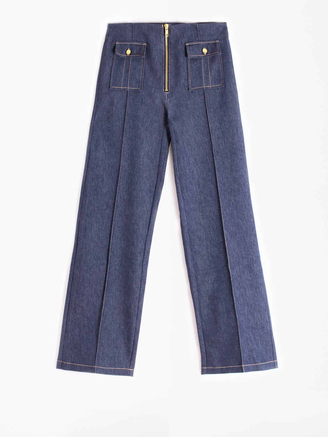 LUANA TROUSER DENIM DARK AMSTERDAM