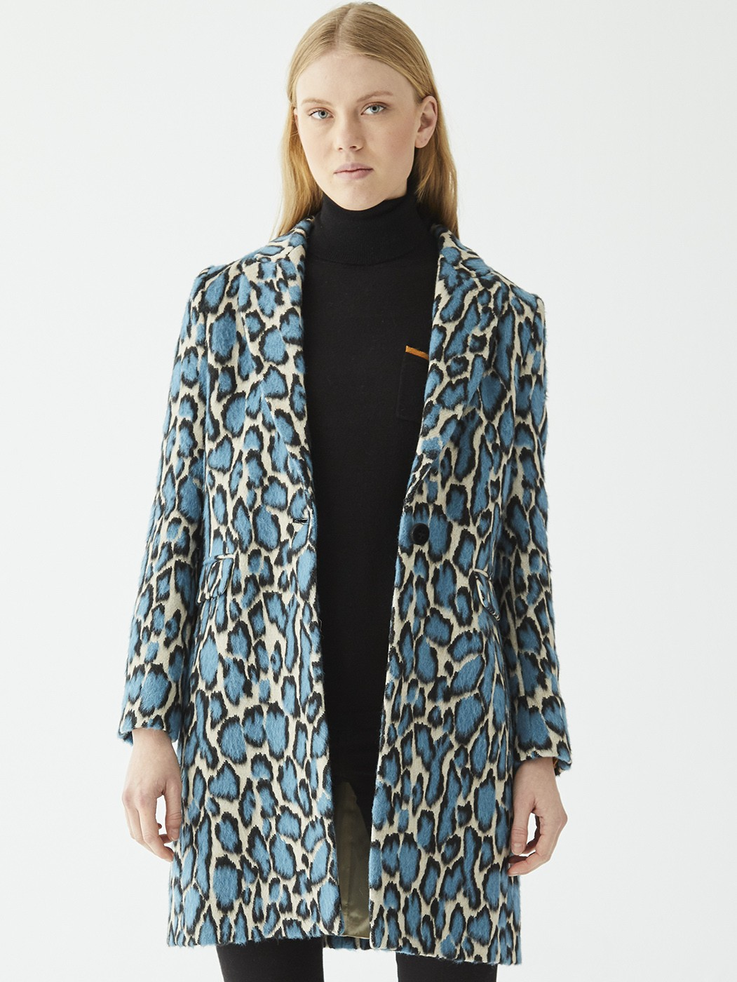 ARICIA COAT BLUE FIRENZE