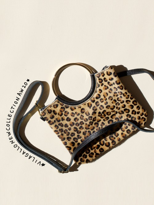 BECKEY LEOPARD LEATHER BAG