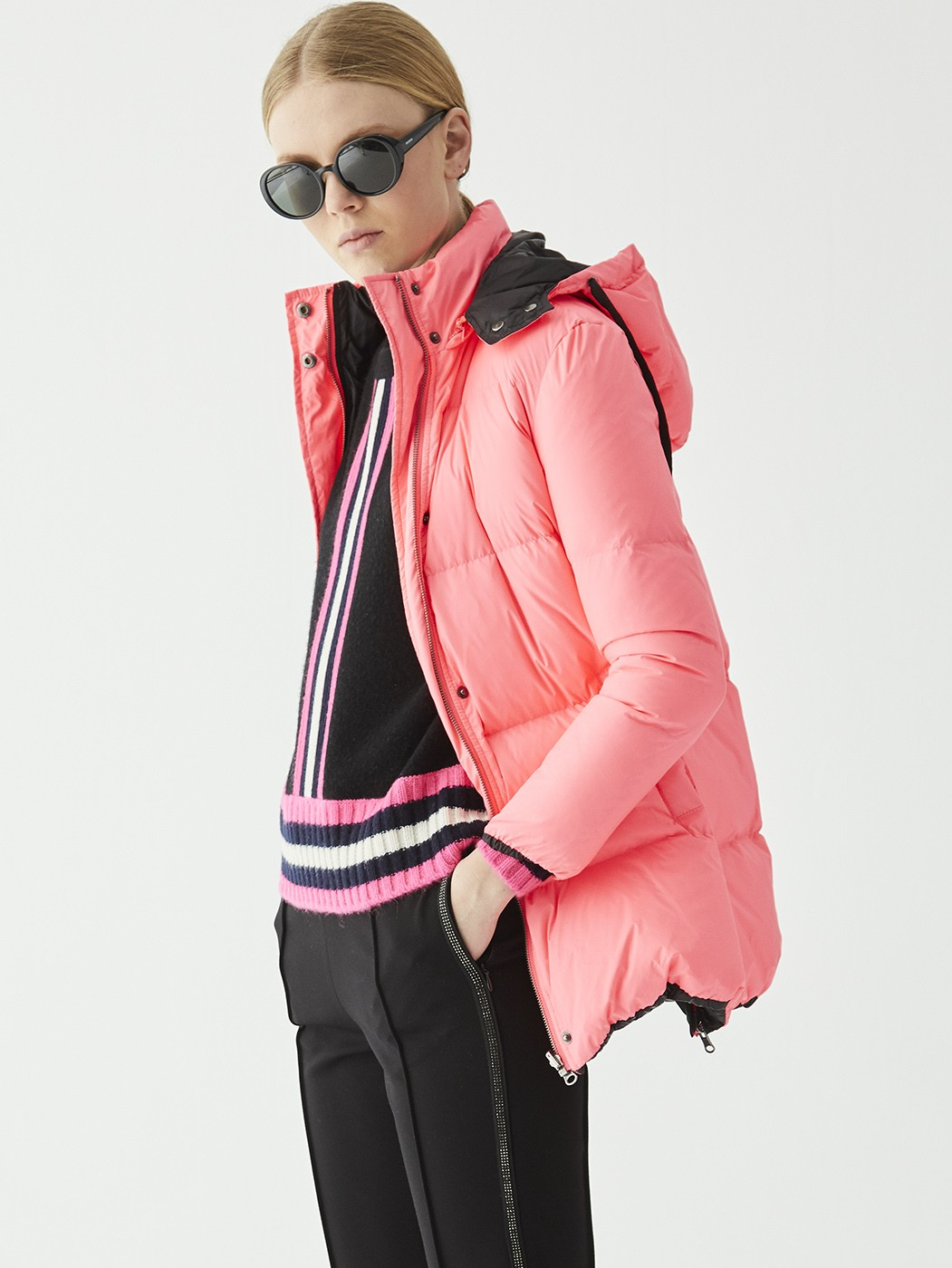 GSTAAD COAT BLACK-PINK