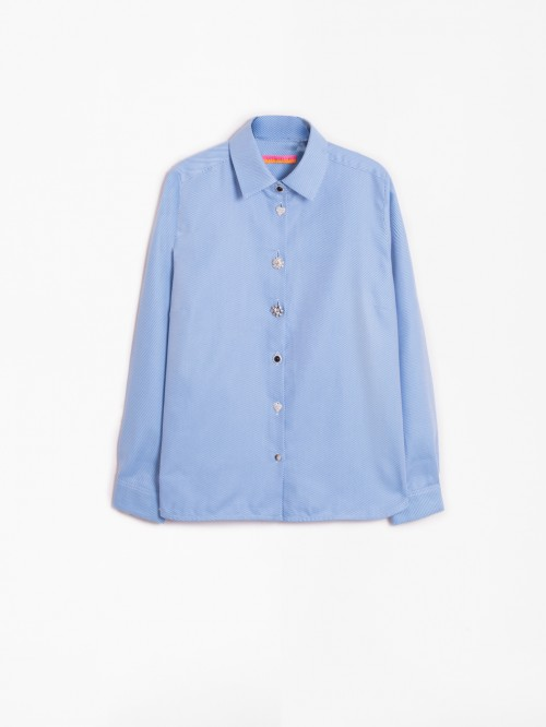 ISABELLA SHIRT BLUE DIAGONAL