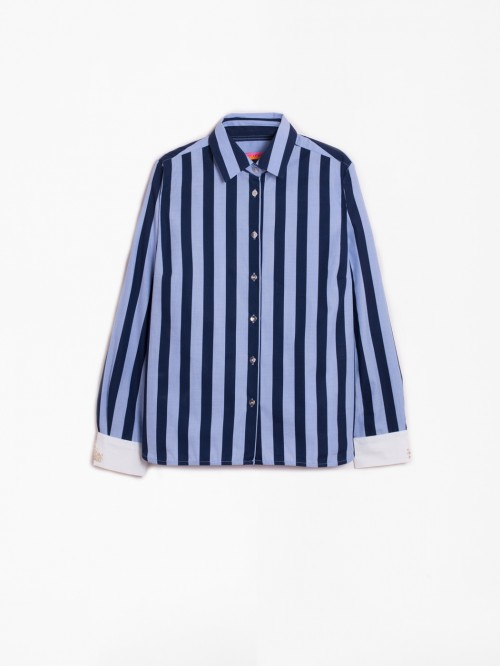 NAVY BLUE STRIPE ISABELLA SHIRT