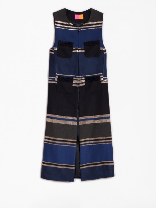ALICIA BLUE KASPIA STRIPE VEST