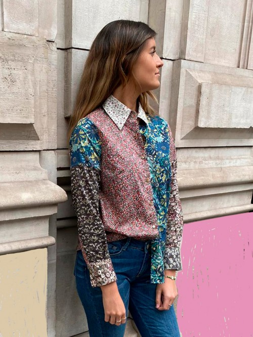 MAFALDA LIBERTY PATCHWORK SHIRT