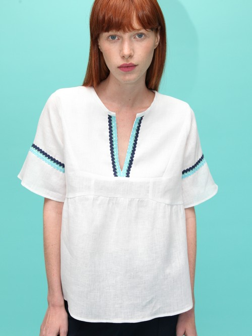MAMCEY SHIRT WHITE LINEN H