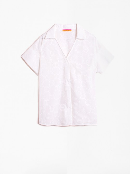 CAMISA CHANTAL WHITE EMBROIDERY