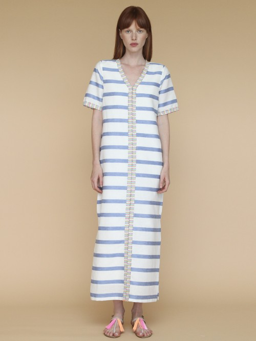 VESTIDO MADISON CARPI BLUE STRIPE