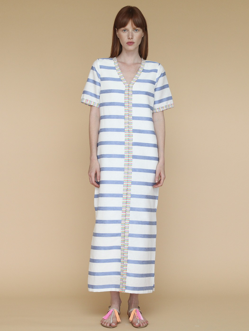 MADISON DRESS CARPI BLUE STRIPE