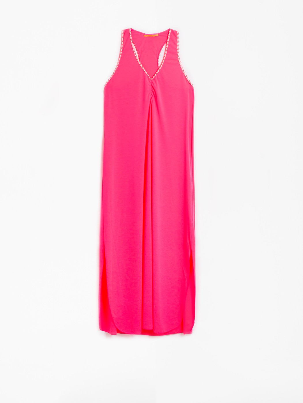 TINY DRESS FLUOR PINK KN
