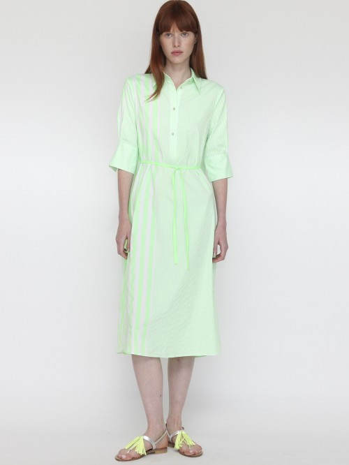 VESTIDO IZZY NEON GREEN STRIPES