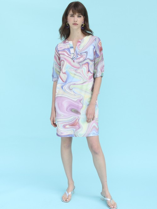 ANALISSA WATER MARBLE DRESS