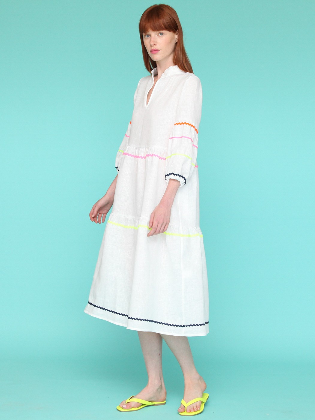 TAMMY DRESS WHITE LINEN H