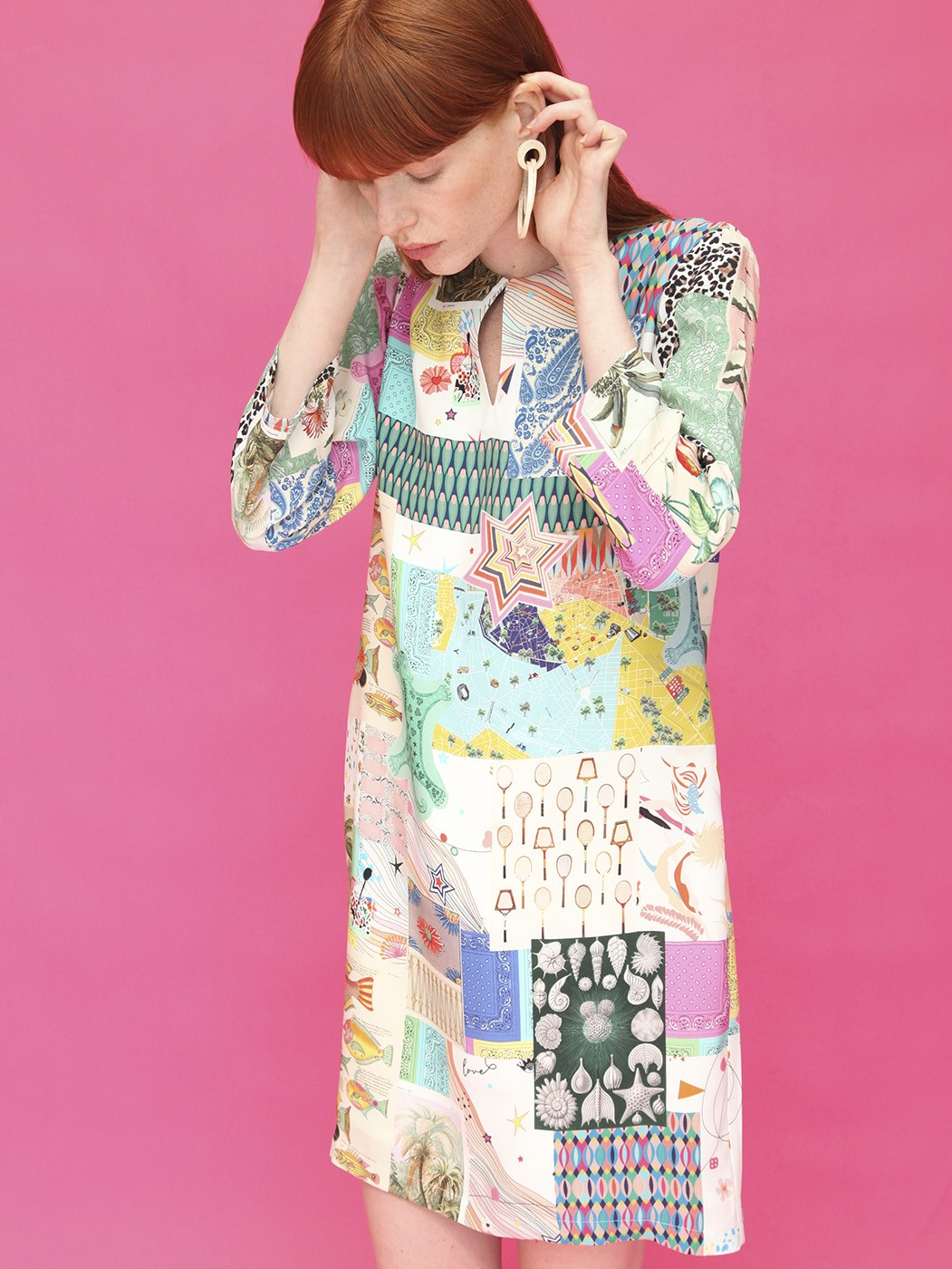 GRETA DRESS DENPASAR PATCHWORK