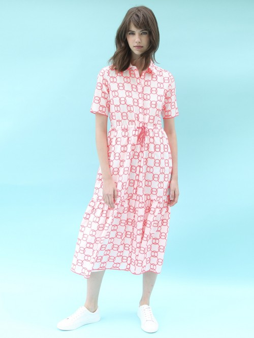EVELINE NEON EMBROIDERY DRESS
