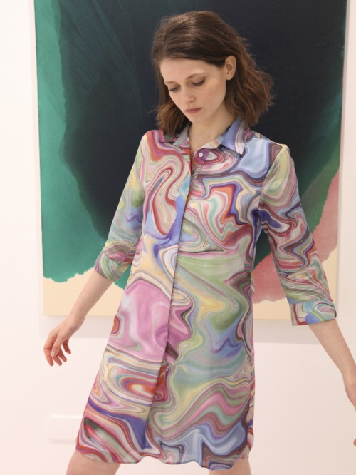 ADRIANA WATER MARBLE DRESS