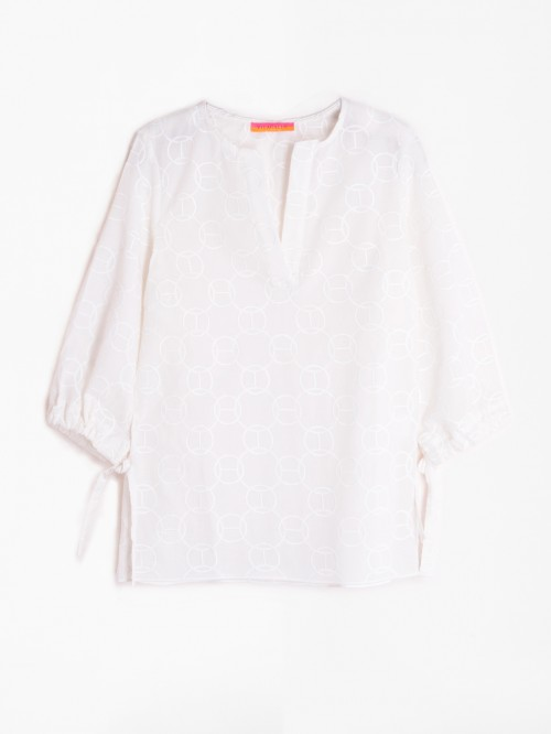 CAMISA ANALISSA WHITE EMBROIDERY EMB