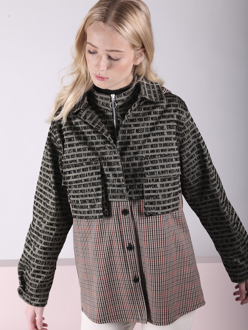 JACKET AGGIE FLOC QUOTES GREEN