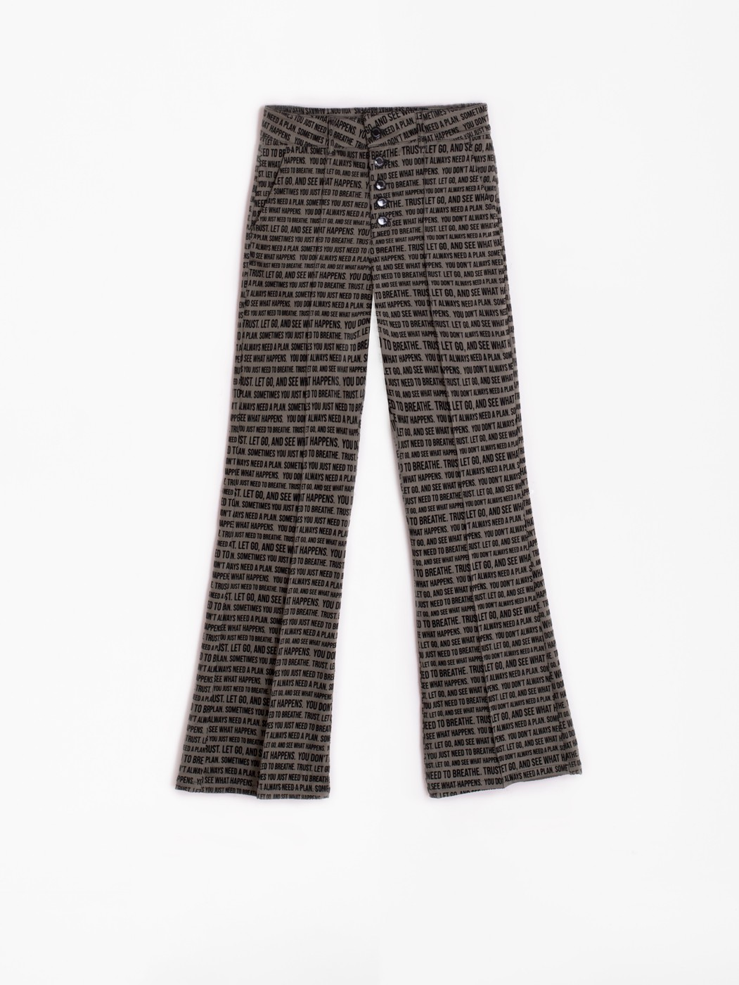 BESS FLOC QUOTES GREEN TROUSER