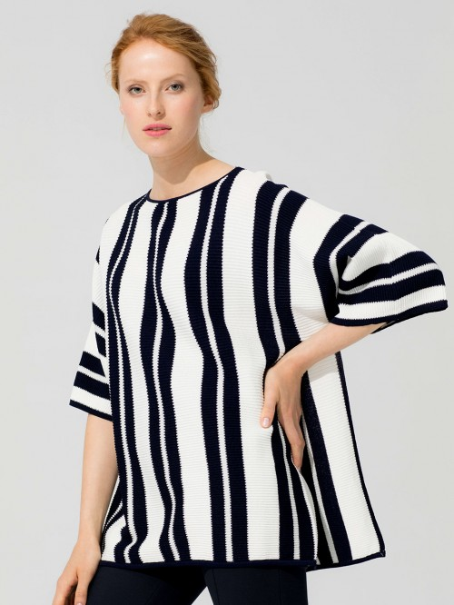 TELMA NAVY SILVER STRIPES