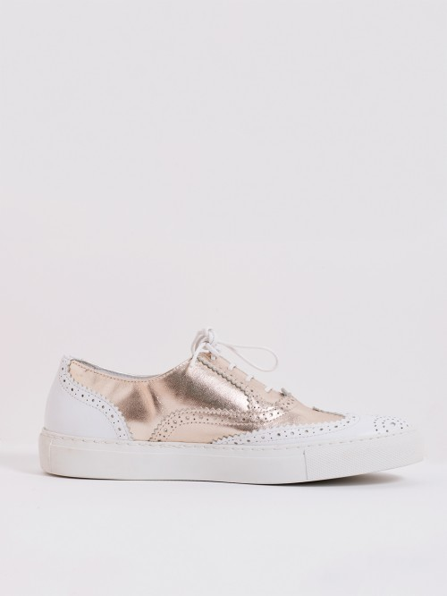 SNEAKER OXFORD GOLD WHITE SNK OXF