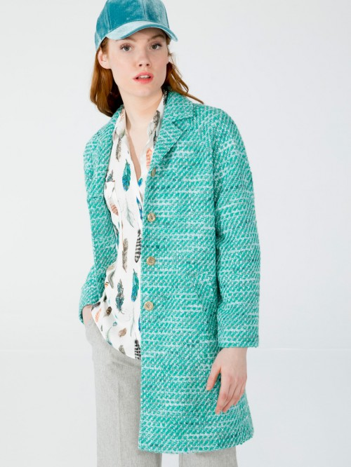 CONSTANZA COAT IN ACQUA FORLI