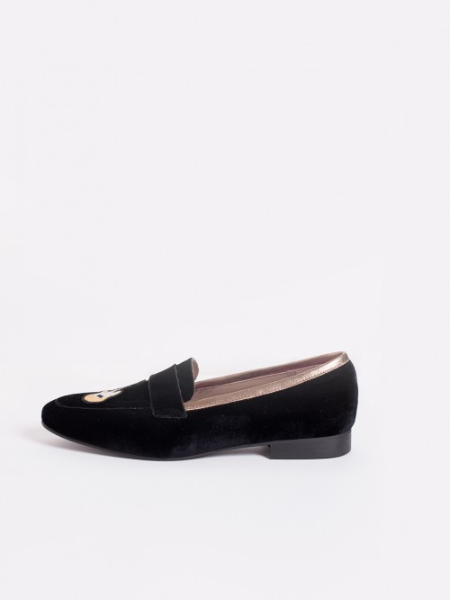 GUMERSINDA BLACK VELVET Z LOAFERS