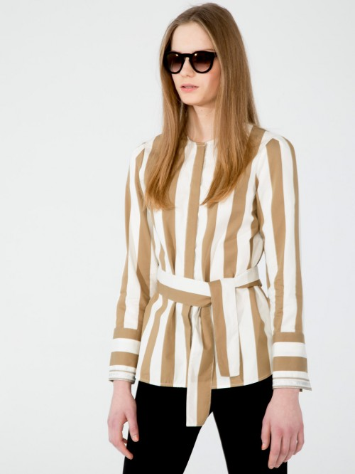 ERICA COOPERS CAMEL STRIPE