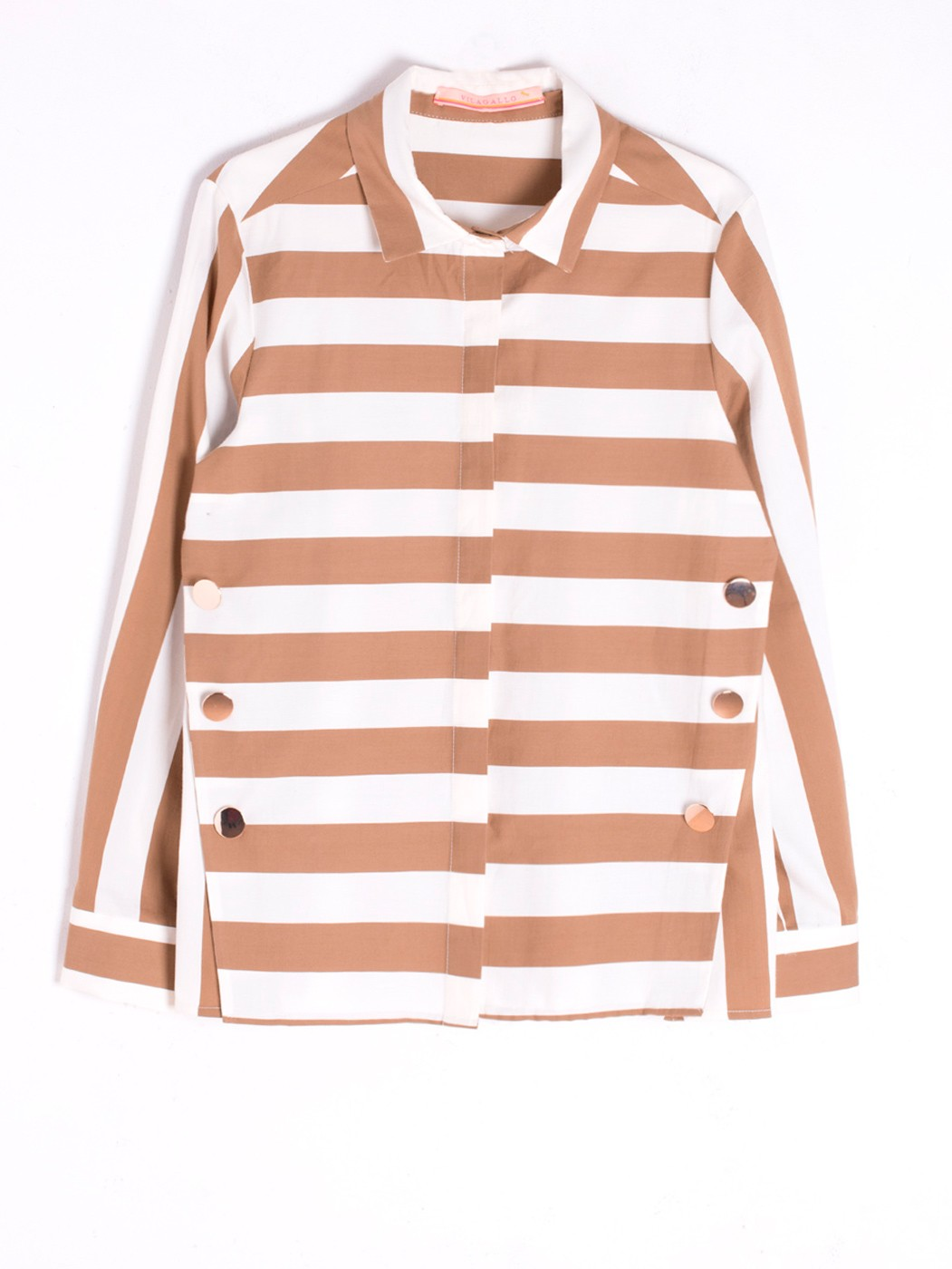 CAMISA MARTINA COOPERS CAMEL STRIPE