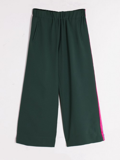 SYLVIE TROUSERS CREP II GREEN